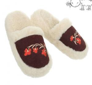 Dámske vlnené papuče
