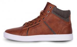 Pánske kožené topánky NORDBLANC Hľadieť hnedé