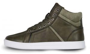 Pánske kožené topánky NORDBLANC Hľadieť khaki