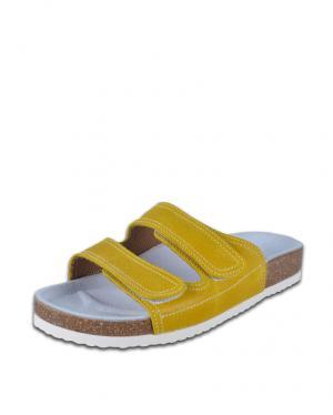 Dámske žlto-biele šľapky Barea 010055