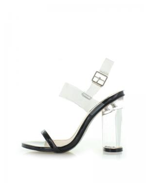 Čierno-transparentné sandále Hila