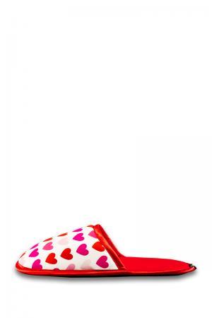 Dámske červeno-biele papuče Sweet Love