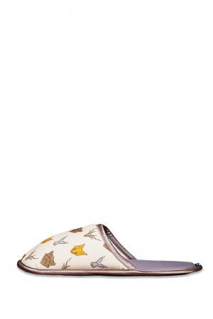 Dámske sivo-biele papuče Animal