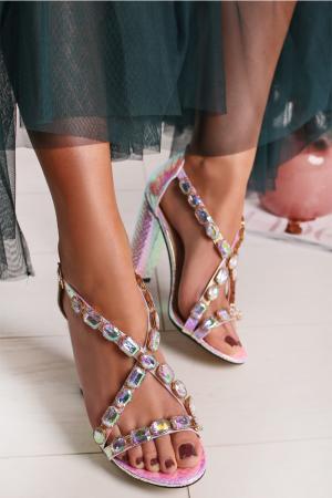 Ružové sandále Elisia