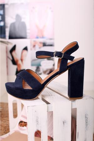 Tmavomodré sandále 69535