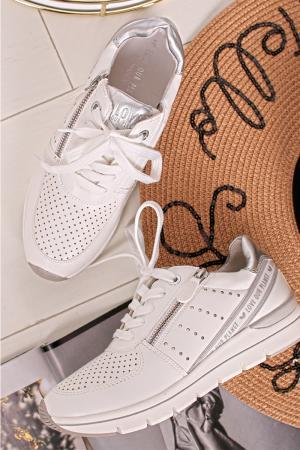 Bielo-strieborné tenisky 2-23723