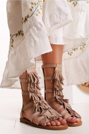 Béžové sandále Hyrelle