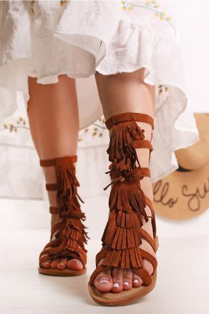 Škoricové sandále Hyrelle