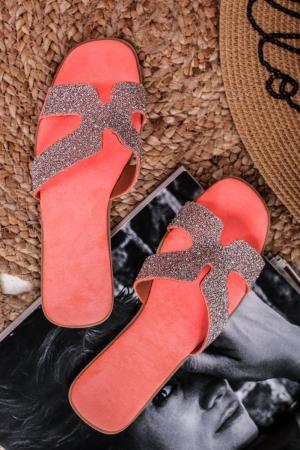 Červené šľapky Ramya