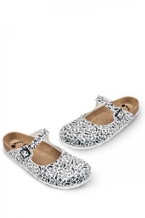 Čierno-biela vzorovaná zdravotná obuv 104003 #1 small