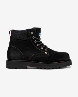 Tommy Jeans Lace Up Členková obuv Čierna