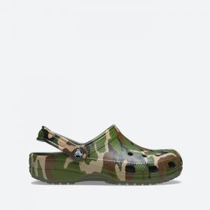 Crocs Classic Printed Camo Clog 206454 ARMY GREEN/MULTI
