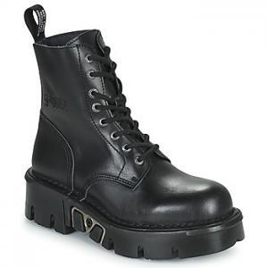 New Rock  Polokozačky M-MILI084N-S3  Čierna