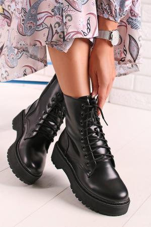 Čierne členkové topánky Delora #1 small